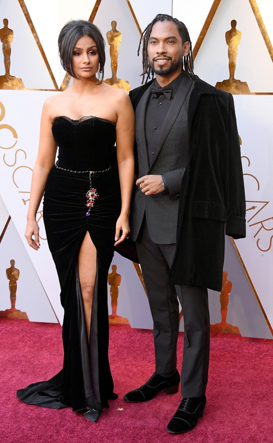 Cặp đôi Miguel và người đẹp Nazanin Mandi.