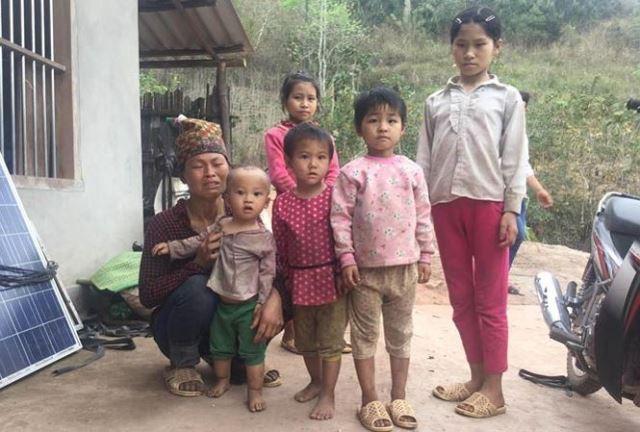 Sau án mạng, vợ và con nạn nhân Dương Kim C. càng nheo nhóc đáng thương. Ảnh: Duy Chiến