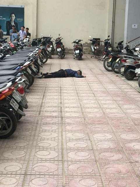 Hiện trường vụ việc xảy ra trong khuôn viên trường Đại học Kiến Trúc Hà Nội. Ảnh: CTV