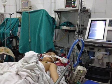 Cháu Lộc tại bệnh viện.