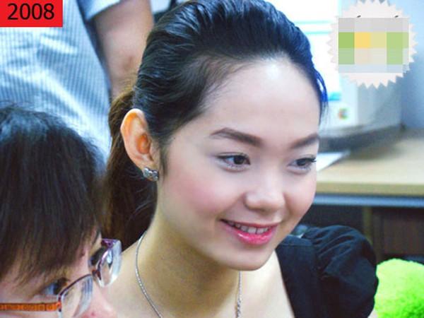 Bắt đầu có tên tuổi, Minh Hằng chú trọng đến việc giảm cân và nhan sắc của cô ngày càng đẹp lên.