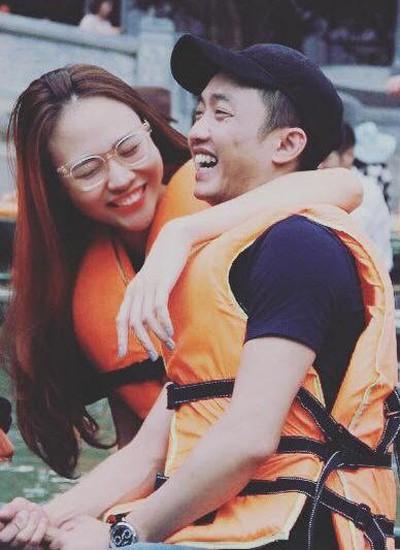 Đàm Thu Trang và người yêu trong một lần đi chơi cùng nhau.
