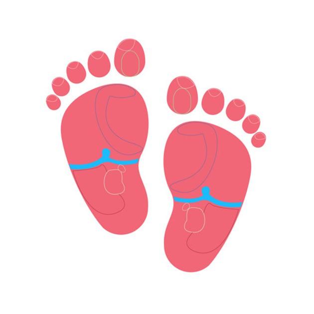 Điểm trung tâm của bàn chân được liên kết với cơ hoành. Nếu bạn nghi ngờ con bạn bị đau dạ dày, hãy thử xoa bóp khu vực này (màu xanh da trời ở hình trên).