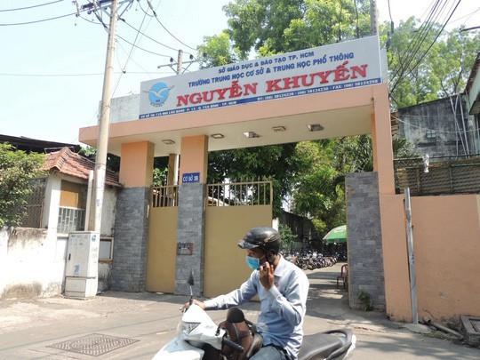 Một cơ sở của Trường THCS và THPT Nguyễn Khuyến, trường có học sinh tự tử gây xôn xao dư luận những ngày qua. Ảnh: Đặng Trinh / Người Lao Động.