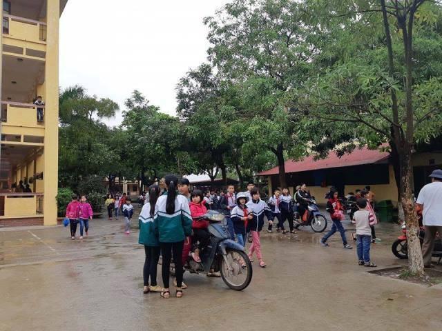 Hoạt động dạy và học của trường Tiểu học An Thượng A trong ngày 16/4 vẫn diễn ra bình thường.