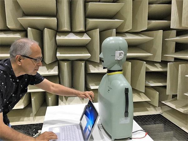 Căn phòng được xây dựng để thử nghiệm và thử âm thanh các thiết bị điện tử của công ty Microsoft.