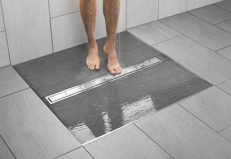 Loại rãnh này giúp sàn nhà thoát nước nhanh chóng hơn.