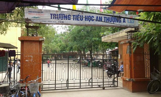 Trường tiểu học An Thượng A (huyện Hoài Đức, Hà Nội) - nơi thầy giáo N.Đ.L công tác. Ảnh: PV