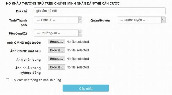 Có thể cập nhật thông tin thuê bao ngay trong trang web MyVinaPhone.