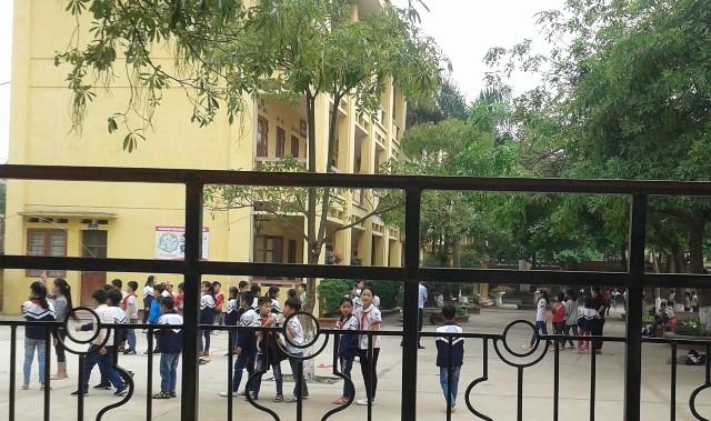 Hoạt động dạy và học của trường Tiểu học An Thượng A trong ngày 17/4 vẫn diễn ra bình thường.