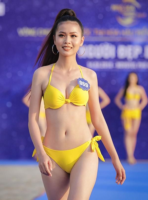 Hình ảnh của Nguyễn Thị Kim Ngọc trong suốt cuộc thi.