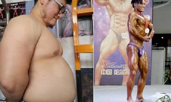 Chàng béo giảm 30 kg trong 6 tháng, trở thành quán quân cuộc thi thể hình