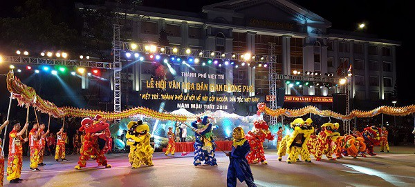 Lễ hội văn hóa dân gian đường phố mừng Giỗ Tổ Hùng Vương năm nay có nhiều điểm mới, đa sắc màu.