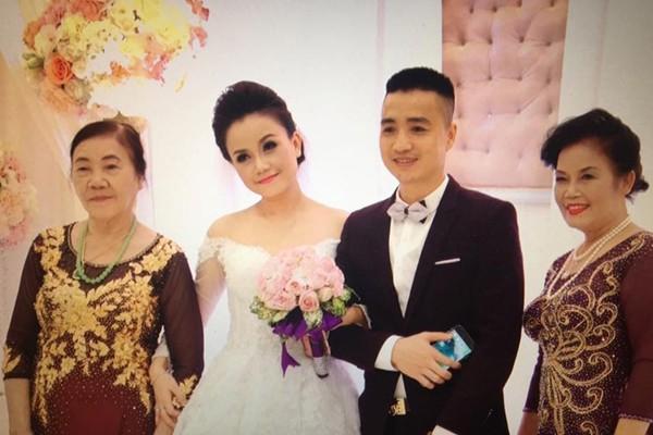 Đám cưới của diễn viên Hoàng Yến và chồng trẻ năm 2016.