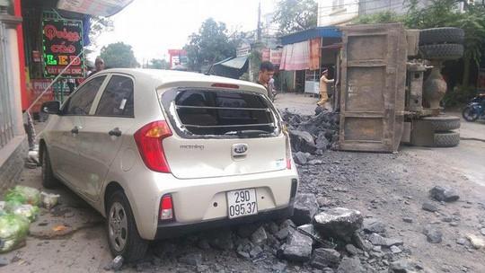 Chiếc xe Kia trong vụ tai nạn.