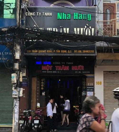 Hải nổ - ông chủ của nhiều tụ điểm thác loạn trên đường Trần Quang Khải, trong đó có nhà hàng Một Trăm Mười.
