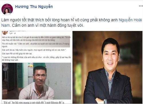 Hay tin chồng hứa đền 240 triệu thay tài xế bẻ lái cứu mạng hai nữ sinh, Hoa khôi Thu Hương có phản ứng bất ngờ ảnh 2