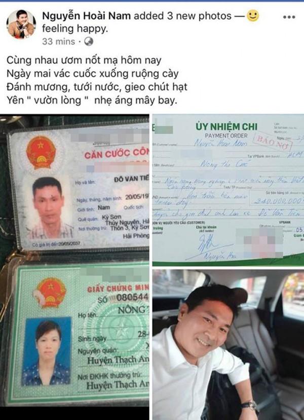 Doanh nhân Nguyễn Hoài Nam chia sẻ chứng nhận anh đã chuyển 240 triệu đồng cho tài xế bẻ lái cứu nữ sinh.