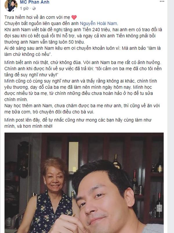 MC Phan Anh chia sẻ sự cảm phục với doanh nhân Nguyễn Hoài Nam.