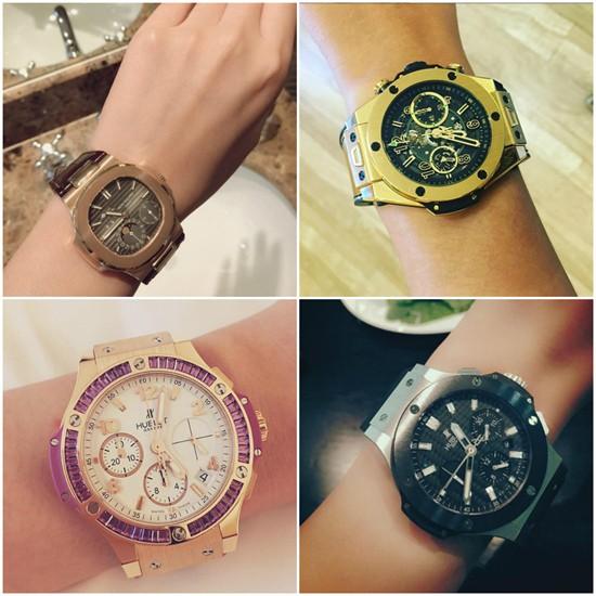 Hoa hậu còn có bộ sưu tập đồng hồ có giá trị từ vài trăm triệu đến cả tỷ đồng trước khi sắm thêm chiếc đồng hồ đắt tiền thuộc thương hiệu Audemars Piguet có giá hơn 2 tỷ.