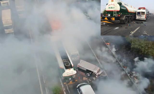 Xử lý thế nào sau vụ tai nạn liên hoàn trên cao tốc do người dân đốt cỏ gây khói