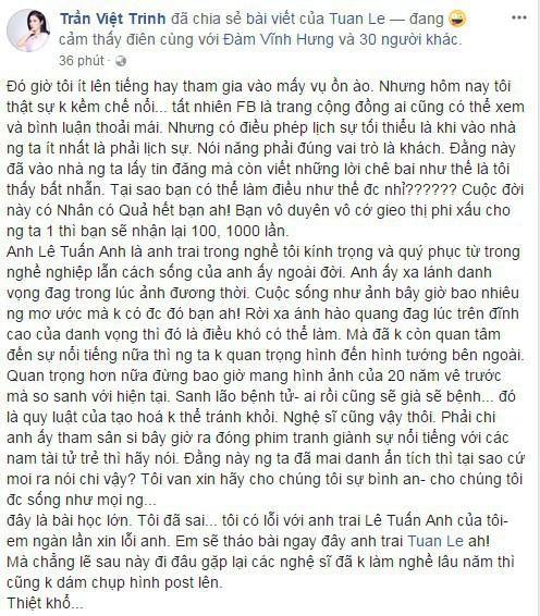 Tâm thư của Việt Trinh.