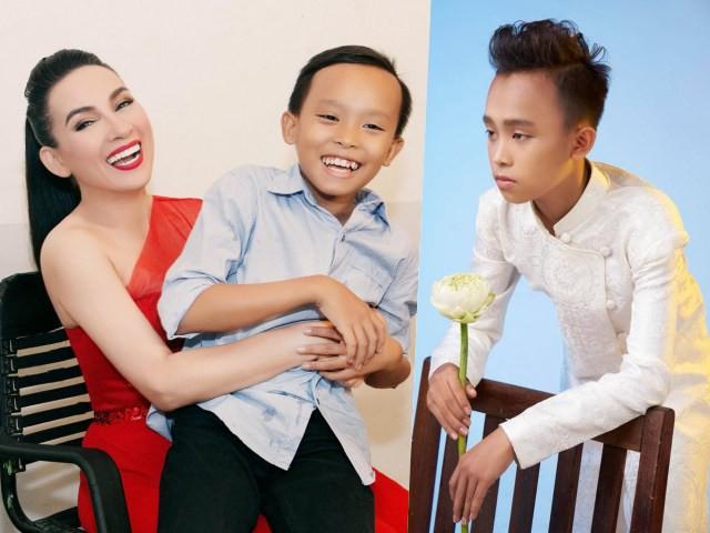 Hồ Văn Cường lúc mới đăng quang Quán quân Giọng hát Việt nhí và hình ảnh hiện tại ở tuổi 15.