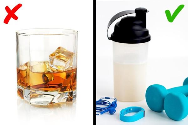 Tránh dùng đồ uống chứa cồn