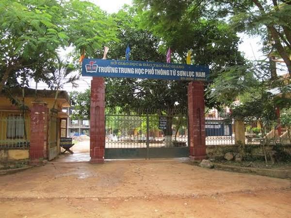 Trường THPT Tứ Sơn nơi Đạt dùng dao sát hại bạn gái.