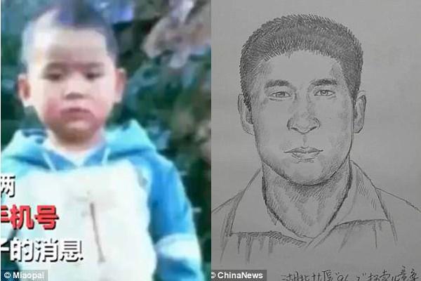 Nhờ họa sĩ phác họa mà gia đình ông bà Li -Chen mới gặp được con trai hiện tại.
