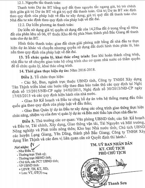 Quyết định số 132/QĐ-UBND của UBND tỉnh Bắc Giang