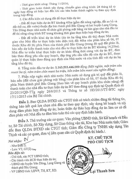 Quyết định số 1789/QĐ-UBND của UBND tỉnh Bắc Giang