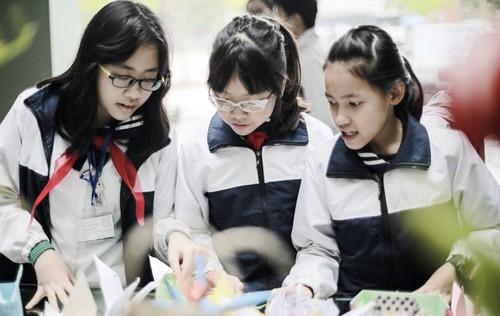Học sinh trường THCS và THPT Lương Thế Vinh.