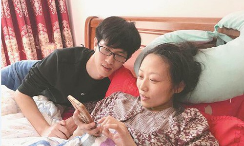 Zhang quyết sinh con dù có thể ảnh hưởng tới tính mạng mình. Ảnh: Chinanews.