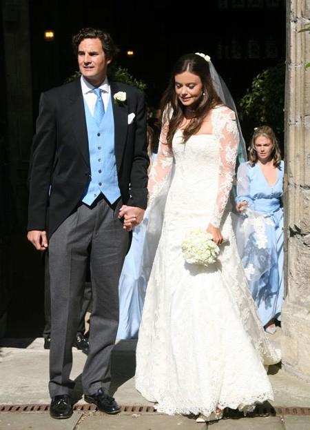 Rupert Finch và vợ trong đám cưới năm 2013. Ảnh: FilmMagic.