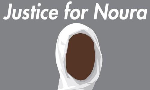 Hình đại diện cho phong trào Công lý cho Noura trên mạng xã hội. Ảnh: CNN.