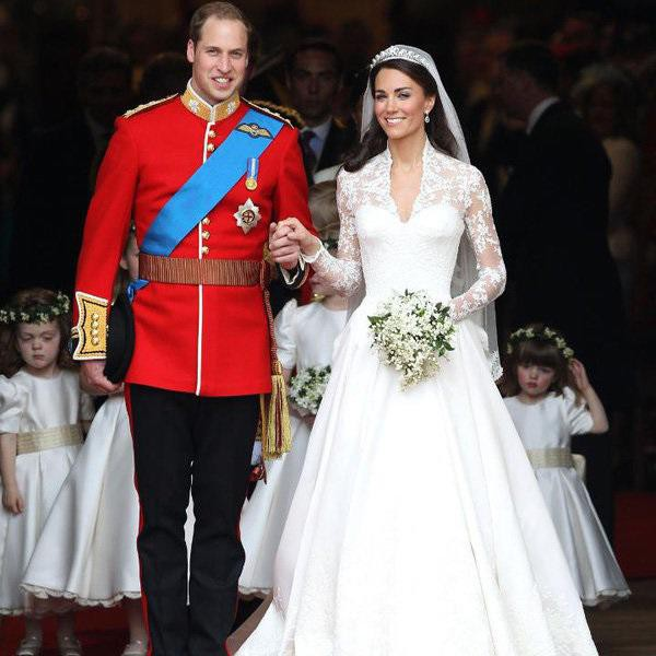 Bó hoa cưới của Công nương Kate cũng có sự hiện diện của hoa linh lan.