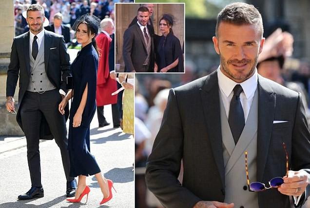 Gia đinh David Beckham có mặt trong đám cưới với vị trí khách mời.