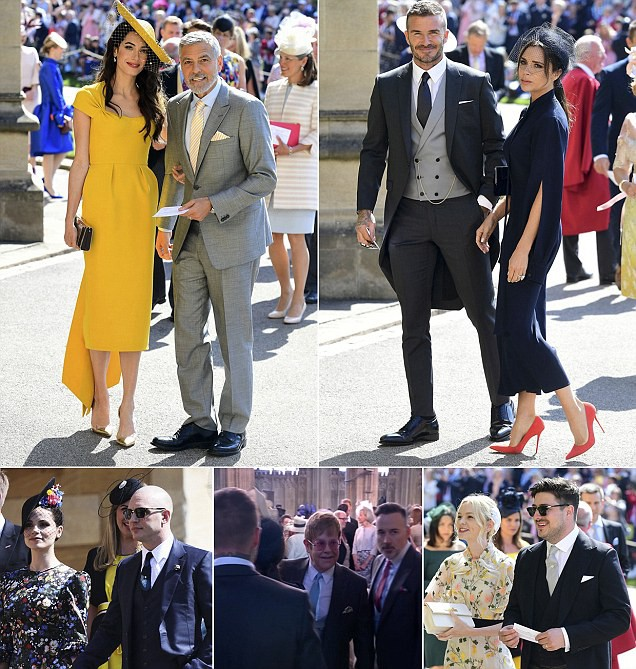 Rất nhiều người nổi tiếng được xuất hiện trong sự kiện trọng đại của hoàng gia Anh.