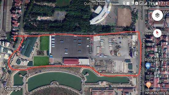 Tổng thể gần 42.000m2 đất được UBND TP Hà Nội giao cho Tổng Công ty Vận tải thuê để thực hiện Dự án ĐTXD hệ thống khu phục vụ xe buýt (điểm Mai Dịch).
