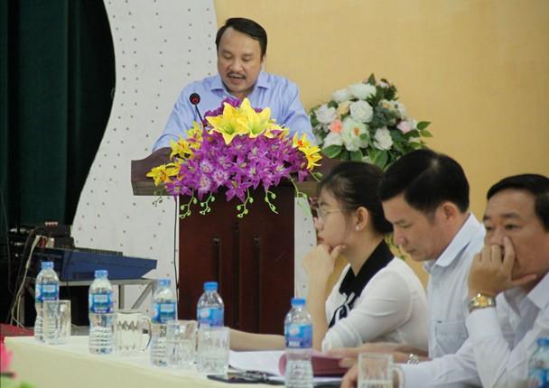 Ông Dương Đình Chỉnh - quyền Giám đốc Sở Y tế Nghệ An phát biểu, chỉ đạo hội thảo.