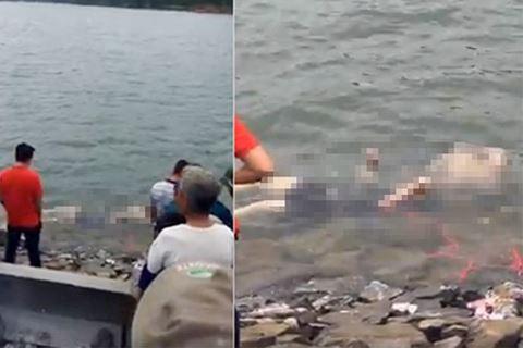 Thi thể 2 nạn nhân được tìm thấy.