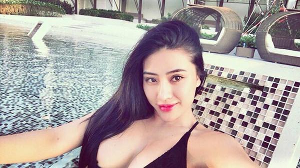 Nhan sắc của người đẹp từng là thí sinh cuộc thi Hoa hậu Hoàn vũ Việt Nam 2017.