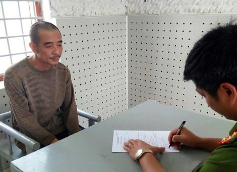 Cơ quan công an lấy lời khai đối tượng Đặng Thanh Tuyền. Ảnh: TL