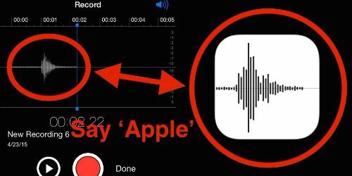 Phát âm từ Apple, người dùng sẽ tạo ra biểu tượng Voice Memos.