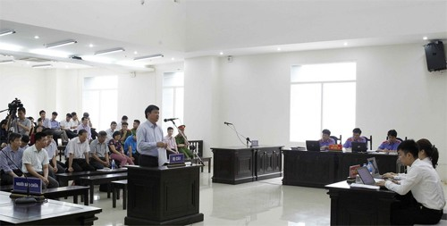Phòng xử án tại phiên phúc thẩm. Ảnh: TTXVN