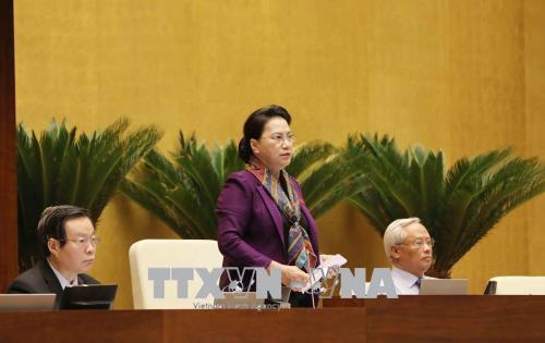 Chủ tịch Quốc hội Nguyễn Thị Kim Ngân kêu gọi đồng bào, nhân dân cả nước hãy bình tĩnh.