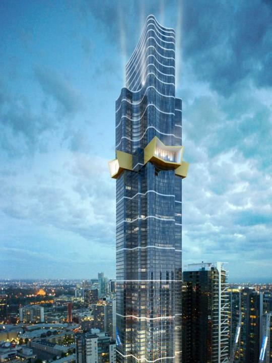"""""""Australia 108"""" sẽ trở thành tòa nhà cao nhất ở Melbourne khi hoàn công vào năm 2019. Ảnh: ABC"""