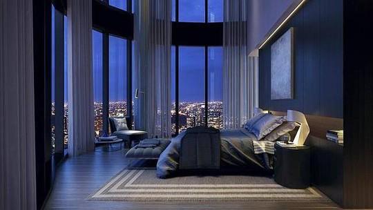 Chủ nhân có thể ngắm thành phố từ phòng ngủ. Ảnh: CCTV