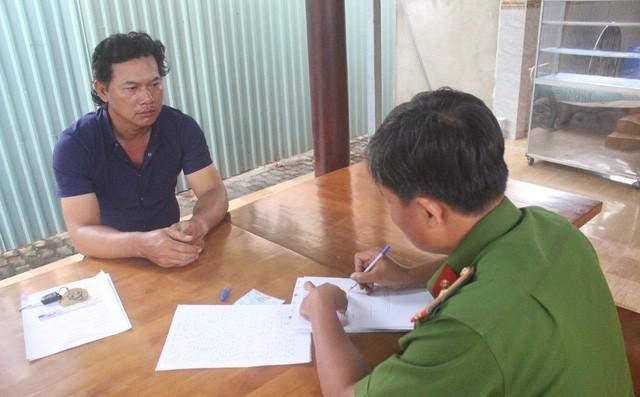 Nguyễn Văn Xuân tại cơ quan Công an. Ảnh B.S